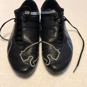 Puma men's shoes black with white and silver